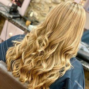 golden highlights Q Hair Salon West Malling Kent