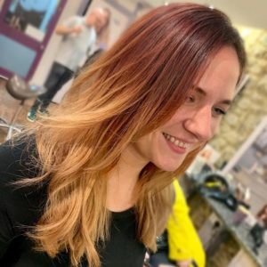 red balayage top hair salon in west malling