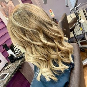 blonde balayage Q Hair Salon West Malling