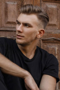 disconnected men's hairstyles, Q Hairdressers, West Malling, Kent