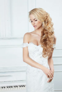 long bridal hairstyles, Q Hairdressers, West Malling, Kent