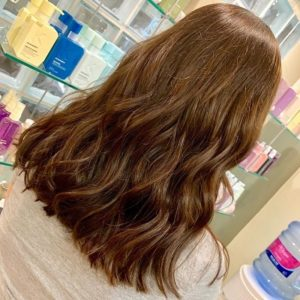 chocolate brown hair colour Q Hair Salon West Malling Kent