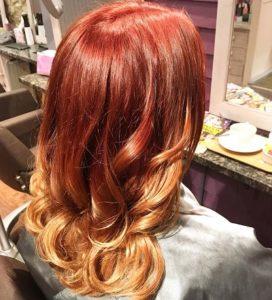copper balayage best hair salon in west malling kent